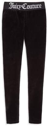 Juicy Couture Black Label Girls' Track Stretch Velour Pants - Big Kid