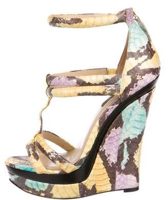 Rachel Zoe Embossed Wedge Sandals