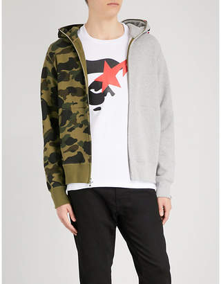 A Bathing Ape 1st Camouflage-print cotton-jersey hoody
