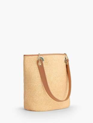 Talbots Paper Straw Bucket Bag