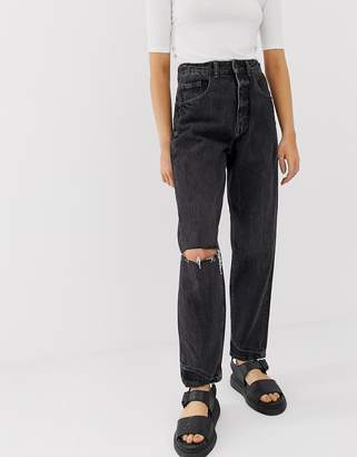 Cheap Monday crinkle mom jeans with organic cotton