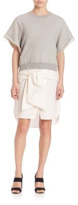 Derek Lam 10 Crosby Rolled Sleeve Two-in-One Dress $495 thestylecure.com