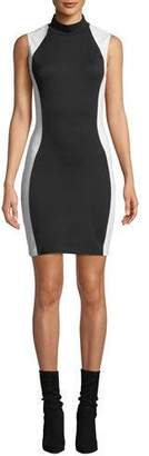 KENDALL + KYLIE Mock-Neck Bodycon Colorblock Dress