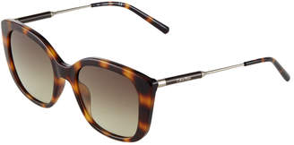 Calvin Klein Oversized Square Tortoiseshell Acetate/Metal Sunglasses