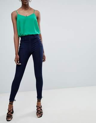 New Look Bianca Side Button Jeans