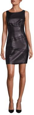 Bailey 44 Waterfall Faux Leather Dress $258 thestylecure.com