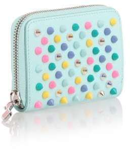 Christian Louboutin  Christian Louboutin Panettone blue multi-spikes coin purse