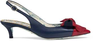 Gucci sling-back pump with Web bow