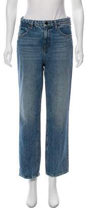 Alexander Wang Denim x High-Rise Straight-Leg Jeans
