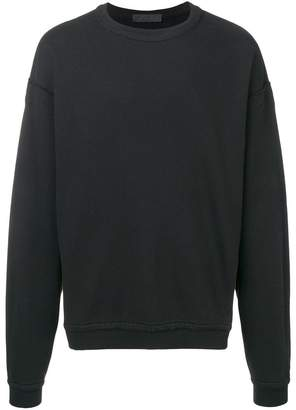 Haider Ackermann distressed trim sweatshirt