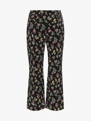 Erdem cropped floral print trousers