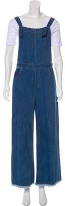 Elizabeth and James Mid-Rise Wide-Leg Overalls
