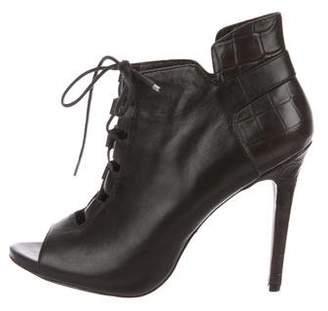 Pour La Victoire Leather Peep-Toe Booties