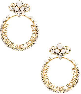 Anton Heunis Diamonds Are Forever Earring