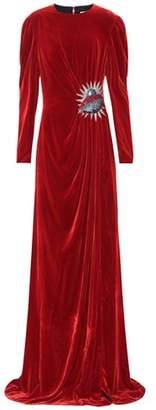 Gucci Embellished velvet gown
