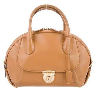 Salvatore Ferragamo Medium Fiamma Dome Satchel