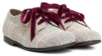Pépé houndstooth pattern lace-up shoes