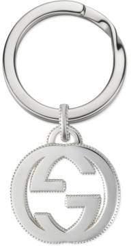 Gucci Interlocking G keychain in silver