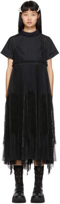 Sacai Black Lace Shirting Dress