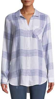 Velvet Heart Taryn Checkered Button-Front Blouse