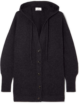 Allude Hooded Wool And Cashmere-blend Cardigan - Gray