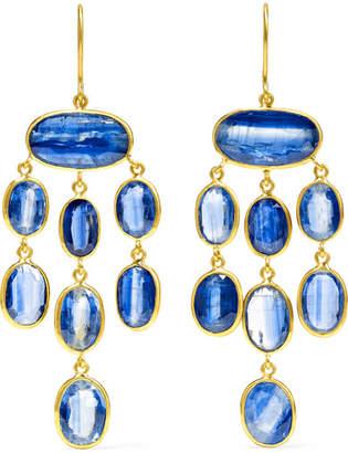 Pippa Small 18-karat Gold Kyanite Earrings - one size