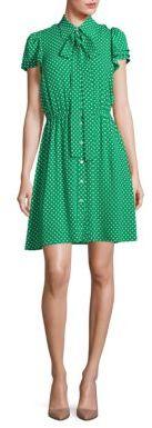 Michael Kors Collection Polka Dot Silk Flutter-Sleeve Shirtdress $1,795 thestylecure.com