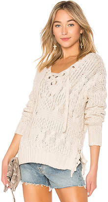 Autumn Cashmere Cable Lace Up Sweater