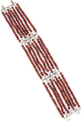 Cathy WatermanCathy Waterman Platinum Garnet & Diamond Bracelet