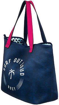Roxy NEW ROXYTM Inside The Rock Reversible Neoprene Beach Bag Womens Handbag