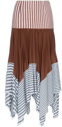 Loewe layered gingham print handkerchief skirt