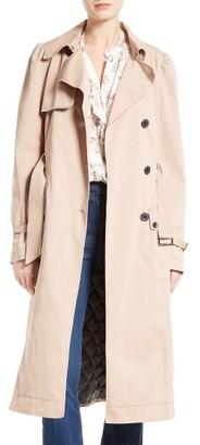 Women's La Vie Rebecca Taylor Twill Trench Coat $595 thestylecure.com