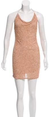 Alice + Olivia Sequin-Embellished Mini Dress