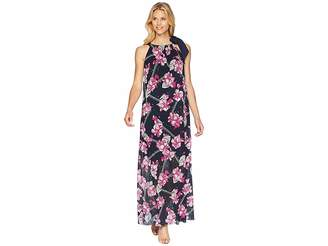 Ellen Tracy Halter Maxi Dress Women's Dress