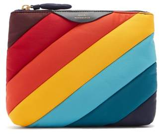 Anya Hindmarch Rainbow Striped Nylon Pouch - Womens - Multi