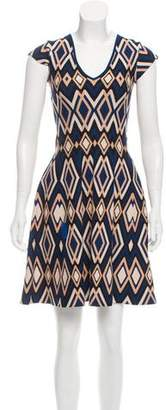 Issa Abstract Print Knit Dress