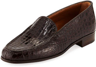 Gravati Crocodile Stack-Heel Loafer