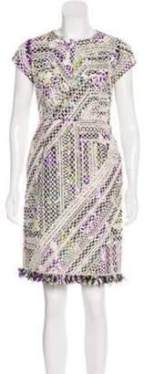 Oscar de la Renta Knee-Length Silk Dress White Knee-Length Silk Dress