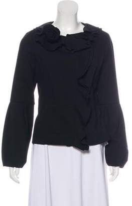 Magaschoni Ruffled Wool Jacket