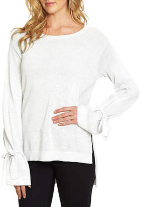 1 STATE Roundneck Hi-Lo Sweater