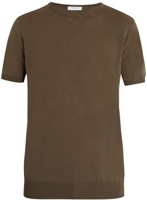 Boglioli Crew-neck knit cotton T-shirt