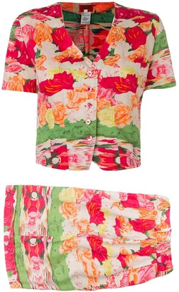 Kenzo Pre-Owned 1970's shorts and blouse set