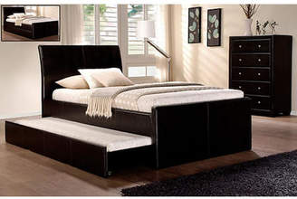 Vivian King Single Faux Leather Trundle Bed