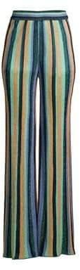 M Missoni Women's Lurex Striped Pants - Size 40 (4)