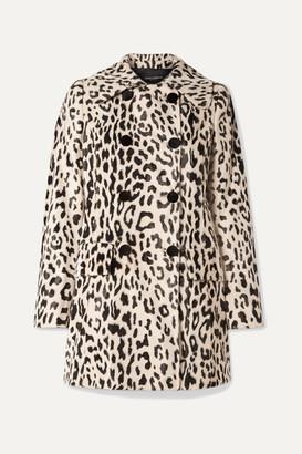 Dolce & Gabbana Double-breasted Leopard-print Faux Fur Coat - Leopard print