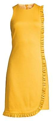 Trina Turk Women's Shangri-La Sunlight Ruffle Trim Shift Dress - Size 0