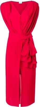 Magda Butrym draped asymmetric dress