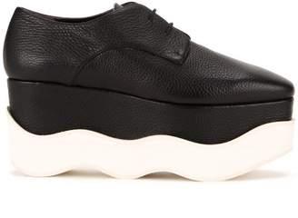 Paloma Barceló scalloped platform lace-up shoes