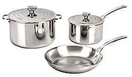 Le Creuset 5-Piece Stainless Steel Cookware Set