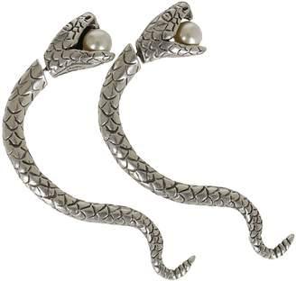 Saint Laurent Snake Steel Earrings
